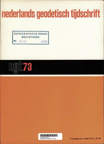 Nederlands Geodetisch Tijdschrift (NGT) 1973-04-01