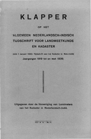 Tijdschrift voor het Kadaster in Ned.-Indië 1939-12-31
