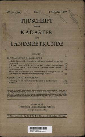 Tijdschrift voor Kadaster en Landmeetkunde (KenL) 1949-10-01