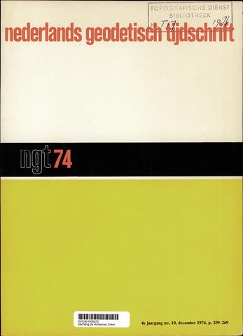 Nederlands Geodetisch Tijdschrift (NGT) 1974-12-01
