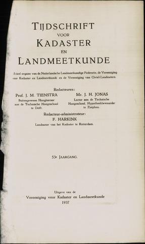 Tijdschrift voor Kadaster en Landmeetkunde (KenL) 1937