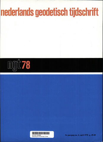 Nederlands Geodetisch Tijdschrift (NGT) 1978-04-01