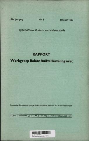 Tijdschrift voor Kadaster en Landmeetkunde (KenL) 1968-10-01