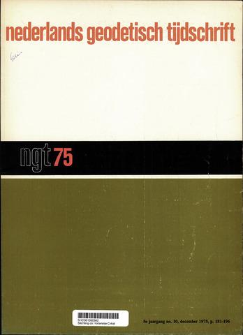 Nederlands Geodetisch Tijdschrift (NGT) 1975-12-01