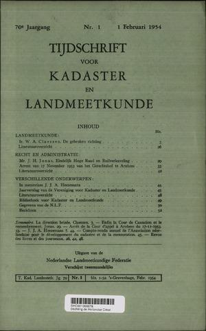 Tijdschrift voor Kadaster en Landmeetkunde (KenL) 1954