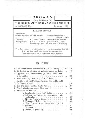 Orgaan der Vereeniging TAK 1950