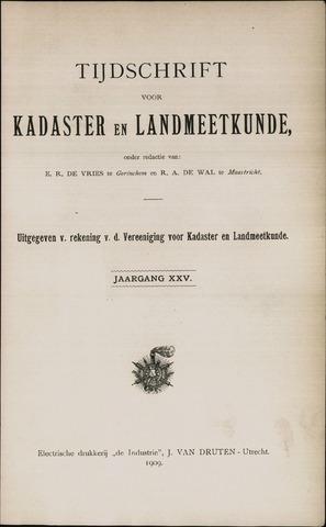 Tijdschrift voor Kadaster en Landmeetkunde (KenL) 1909