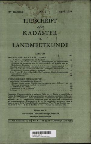 Tijdschrift voor Kadaster en Landmeetkunde (KenL) 1954-04-01