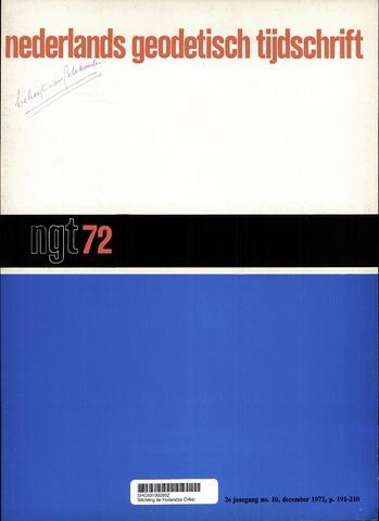 Nederlands Geodetisch Tijdschrift (NGT) 1972-12-01