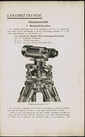 Tijdschrift voor Kadaster en Landmeetkunde (KenL) 1938