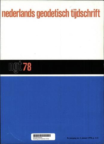 Nederlands Geodetisch Tijdschrift (NGT) 1978