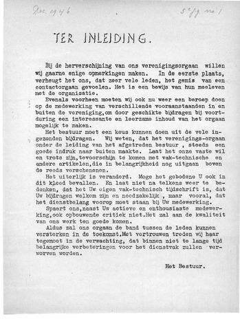 Orgaan der Vereeniging TAK 1946
