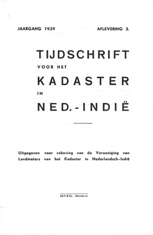 Tijdschrift voor het Kadaster in Ned.-Indië 1939-07-01