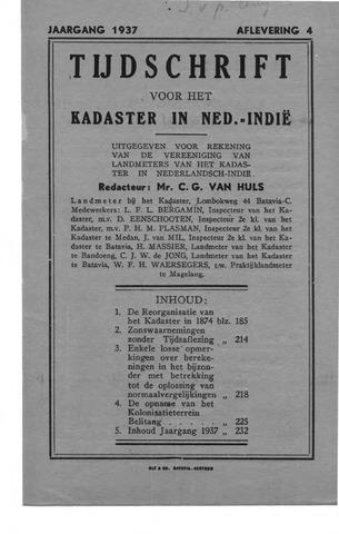 Tijdschrift voor het Kadaster in Ned.-Indië 1937-10-01