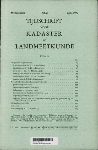 Tijdschrift voor Kadaster en Landmeetkunde (KenL) 1970-04-01