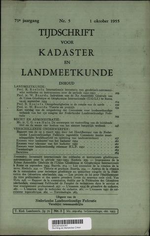 Tijdschrift voor Kadaster en Landmeetkunde (KenL) 1955-10-01