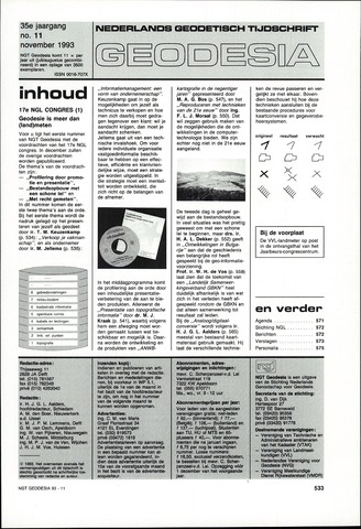 (NGT) Geodesia 1993-11-01