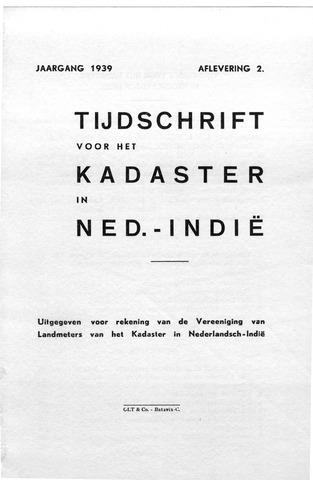 Tijdschrift voor het Kadaster in Ned.-Indië 1939-04-01