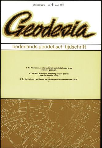 (NGT) Geodesia 1984-04-01