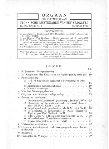 Orgaan der Vereeniging TAK 1956