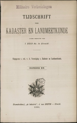 Tijdschrift voor Kadaster en Landmeetkunde (KenL) 1898