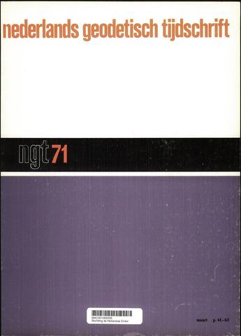 Nederlands Geodetisch Tijdschrift (NGT) 1971-03-01