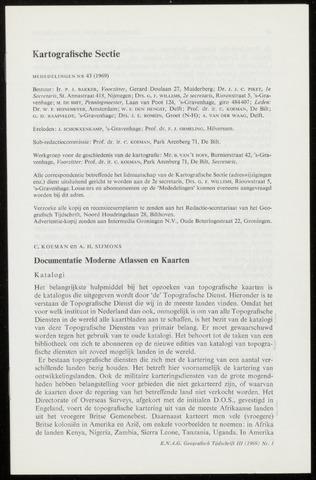 Kartografie 1969-01-01