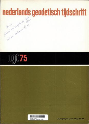 Nederlands Geodetisch Tijdschrift (NGT) 1975-05-01