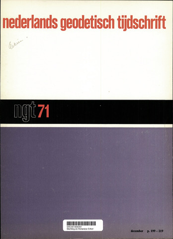Nederlands Geodetisch Tijdschrift (NGT) 1971-12-01