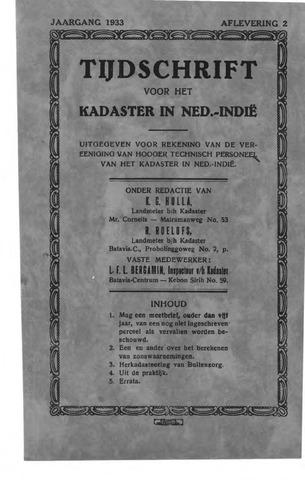 Tijdschrift voor het Kadaster in Ned.-Indië 1933-04-01