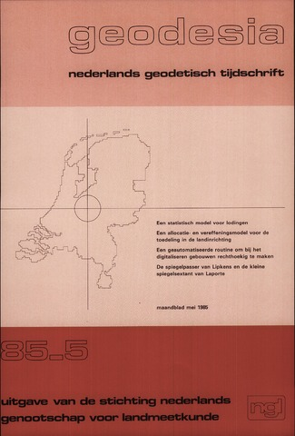 (NGT) Geodesia 1985-05-01