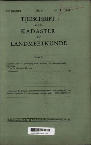 Tijdschrift voor Kadaster en Landmeetkunde (KenL) 1959-10-22