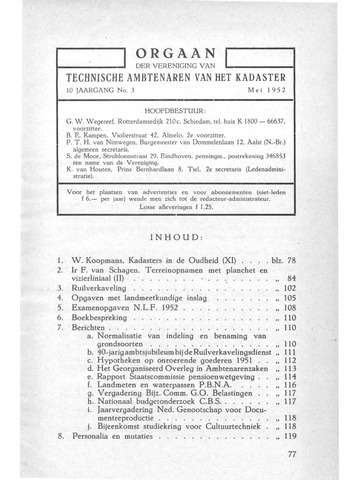 Orgaan der Vereeniging TAK 1952-05-01