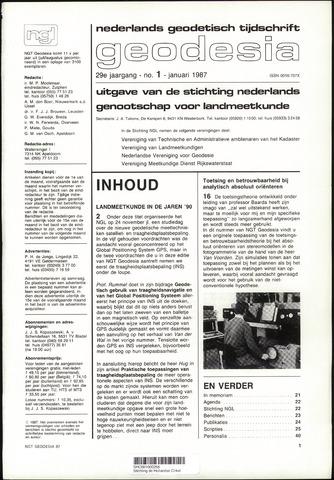 (NGT) Geodesia 1987-01-01