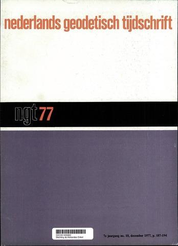 Nederlands Geodetisch Tijdschrift (NGT) 1977-12-01