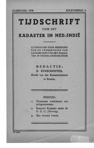 Tijdschrift voor het Kadaster in Ned.-Indië 1936-04-01