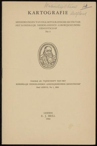 Kartografie 1960-01-01
