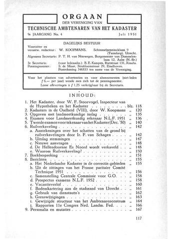 Orgaan der Vereeniging TAK 1951-07-01