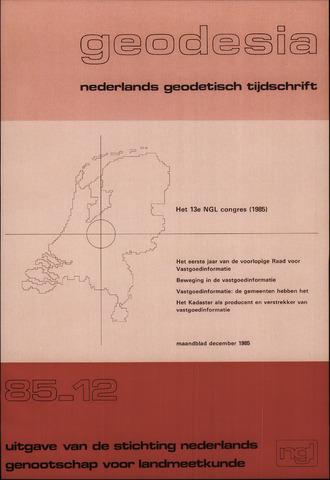 (NGT) Geodesia 1985-12-01