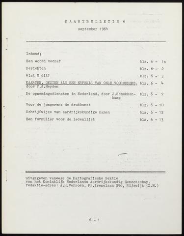 Kaartbulletin 1964-09-01