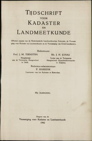 Tijdschrift voor Kadaster en Landmeetkunde (KenL) 1942