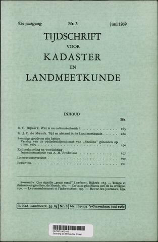 Tijdschrift voor Kadaster en Landmeetkunde (KenL) 1969-06-01