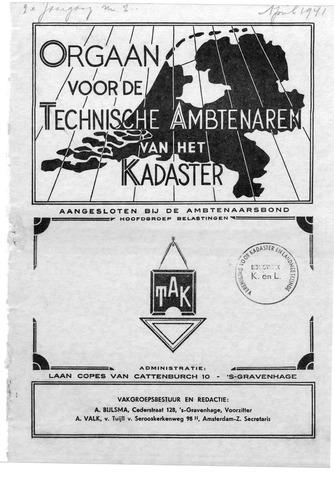Orgaan der Vereeniging TAK 1941-04-01
