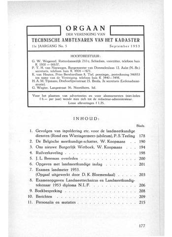 Orgaan der Vereeniging TAK 1953-09-01