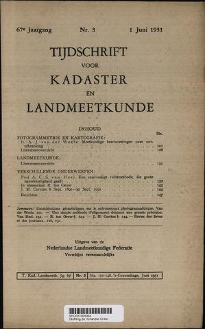 Tijdschrift voor Kadaster en Landmeetkunde (KenL) 1951-06-01