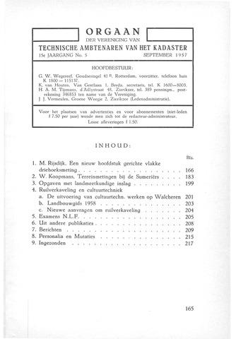Orgaan der Vereeniging TAK 1957-09-01