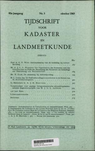 Tijdschrift voor Kadaster en Landmeetkunde (KenL) 1969-10-01