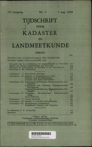 Tijdschrift voor Kadaster en Landmeetkunde (KenL) 1958-08-01