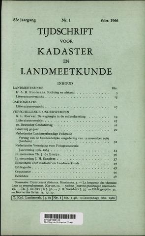 Tijdschrift voor Kadaster en Landmeetkunde (KenL) 1966-02-01