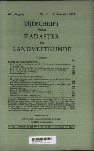 Tijdschrift voor Kadaster en Landmeetkunde (KenL) 1953-12-01